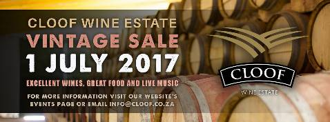 Cloof Vintage Wine Sale