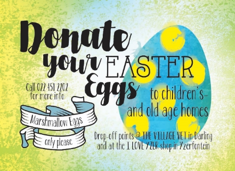 Donate your Easter Eggs to Children's- and Old Age Homes