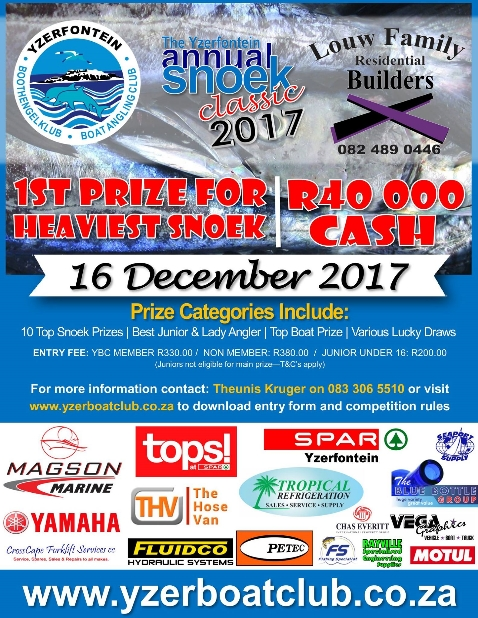 The Yzerfontein annual snoek classic 2017