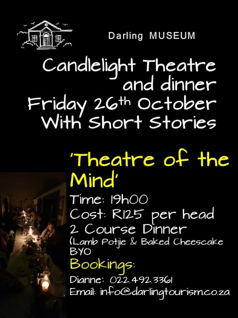 Theatre of the Mind Candlelight Dinner at Darling Museum