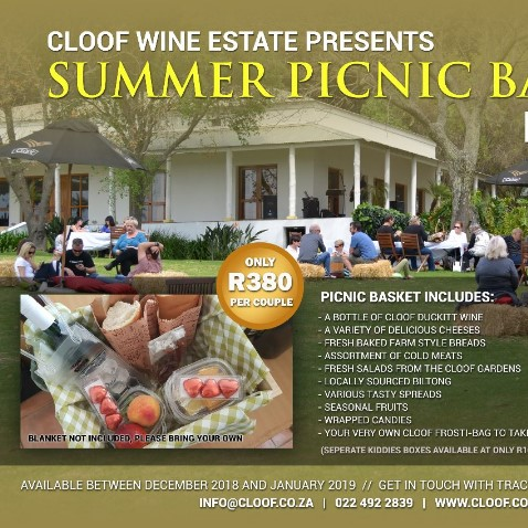 Cloof Wine Estate presents Summer Picnic Baskets for Two