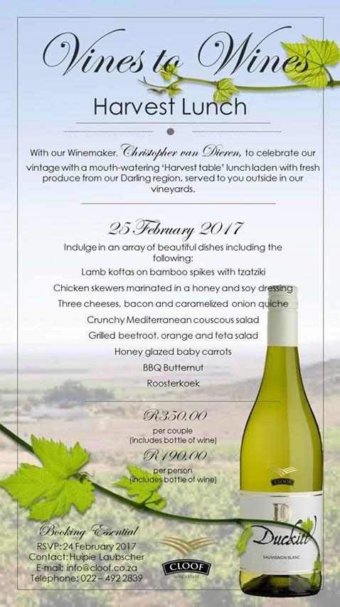 'Vines to Wines' Harvest lunch